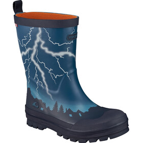 Viking Footwear Lyn Rubber Boots Kids blue/orange